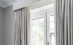 Image result for white blockout curtains with black pelmets
