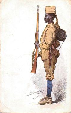 Native Soldier in Uniform, German East Africa 1917