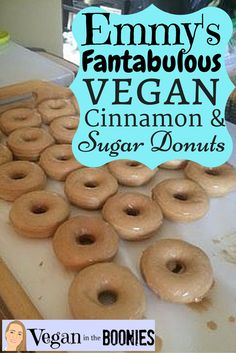 Love donuts but have a hard time finding vegan options? Consider making your own! Try out my yummy recipe for vegan cinnamon and sugar donuts.
