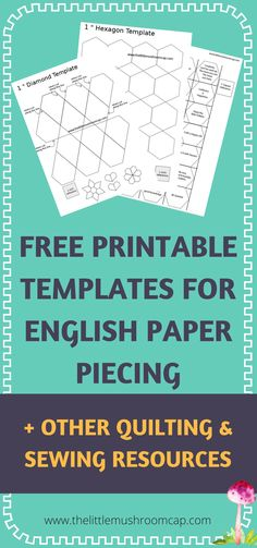 More to come - check out what is already in the library. Free printables for english paper piecing .