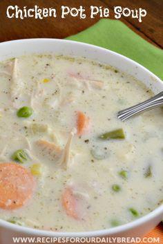 ... com/2013/11/30/turkey-or-chicken-pot-pie-soup/ #soup #chicken pot pie