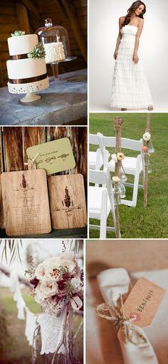 Love rustic weddings!