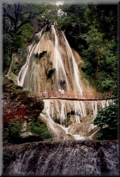 Cola de Caballo  Horsetail Falls, Mexico (between Allende,Nuevo Leon & Monterrey, Mexico  LOVE this place, house down the hill..Thanks for the memory Lissa!