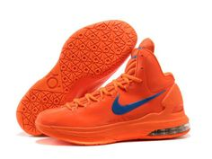 "Nike Zoom KD V 5 ""Creamsicle"" Orange Logo Blue Basketball Shoes"