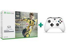 Microsoft Xbox One S White - 500GB & FIFA 17 & 2ο χειριστήριο (λευκό)