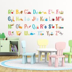 Alphabet Wall Stickers  https://www.amazon.com/Decowall-DA-1701-Alphabet-Nursery-Stickers/dp/B01MYBGC5D/ref=sr_1_1?ie=UTF8&qid=1494840304&sr=8-1&keywords=decowall+1701