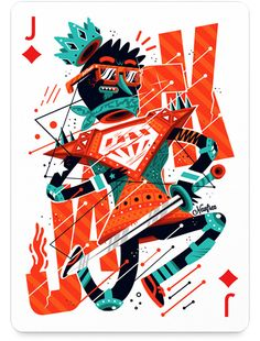 Digital Abstracts is raising funds for Playing Arts - A Deck of Poker Cards by 54 Top Artists on Kickstarter! From the two of clubs to the ace of diamonds, each of 54 participants has illustrated a single card in their own individual style. Cool Playing Cards, Collaborative Art Projects, Top Artists, Illustrations Posters, Illustrators, Character Design, Illustration Art, Artwork, Vintage