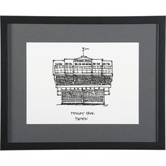 Cityscape Boston Print in Sale Wall Art, Mirrors   Crate and Barrel