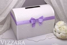 Purple Wedding Card box Card holder Wedding Money Box For Envelopes Purple Gift Card Box wedding ideas Glamorous Dark Purple Wedding Box