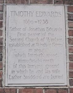 Rev Timothy Edwards, great-grandfather, (1669 - 1758) - Find A Grave Memorial