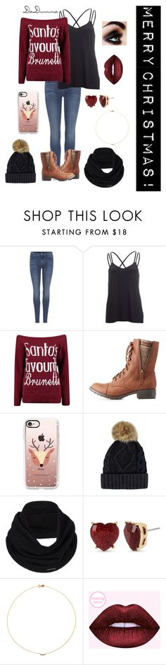 """""""MERRY CHRISTMAS 2016!!!!"""" by dadrumma ❤ liked on Polyvore featuring 7 For All Mankind, Beyond Yoga, Boohoo, Charlotte Russe, Casetify, prAna, Betsey Johnson, Sole Society and Christmas"""