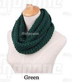 Winter Hot Fashion Winter Women Lady Warm Knit Neck Circle Wool Cowl Snood Long Scarf Shawl Wrap Q1