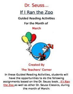 dr. seuss writing activities if i ran the zoo