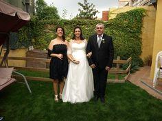 La Sònia amb la Virtuts i en Lluís, els seus pares