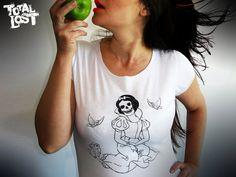 Snow white skull t shirt. http://www.etsy.com/listing/88095939/t-shirt-snow-white-skull-funny-women