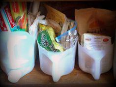 Ordnungshelfer, Upcycling aus Plastikkontainern Organise, upcycle Plastikcontainer