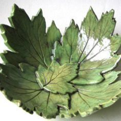 Leaf print bowl