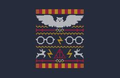 Yes, I realize it's a knitting pattern, but they work surprisingly well as embroidery patters - Harry Potter chart Cross Stitch Harry Potter, Cumpleaños Harry Potter, Harry Potter Crochet, Harry Harry, Harry Potter Christmas Sweater, Ugly Christmas Sweater, Ugly Sweater, Cross Stitching, Cross Stitch Embroidery