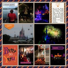 Disney Digital Project Life Scrapbook page using Project Mouse: Halloween by Britt-ish Designs and Sahlin Studio
