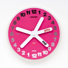 YOU & ME wall clock (Artecnica) | Design: Peter Stathis, 2007