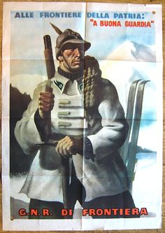 Manifesto Milizia Confinaria, R. 1944 - pin by Paolo Marzioli Italian Army, Military Art, The Republic, Ww2, Baseball Cards, History, Sports, Poster, Fictional Characters