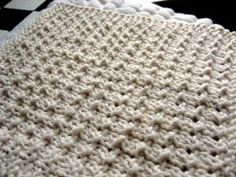 "Knitted pebble dishcloth - ""pebbles"" are great for a massage in a spa ... or for washing dishes!"