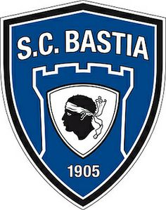 Sporting Club de Bastia (SC Bastia) | Country: France. País: Francia. | Founded/Fundado: 1905 | Badge/Crest/Logo/Escudo.