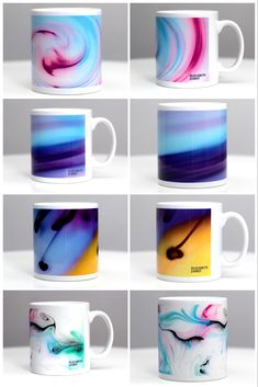 Artwork from the Colour In Motion Series by Elizabeth James. A nice treat for a friend or an uplifting addition to your kitchen? Elizabeth And James, Colour, Fine Art, Mugs, Nice, Artwork, Kitchen, Shop, Design