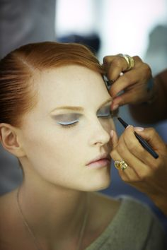 Giorgio Armani Spring 2013 Backstage Beauty:    Photo by: Thibaut de Saint Chamas #Makeup #Eyeliner