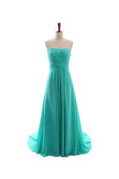 Fancy A-line empire waist chiffon floor length dress