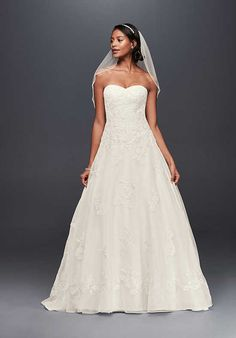 David's Bridal Jewel Style WG3837 A-Line Wedding Dress