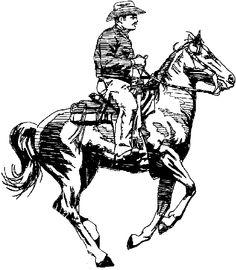 Horse Clip Art | Black and White Horses | ClipArt ETC | Horses ...
