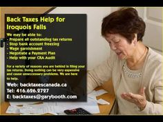 Iroquois Falls   Back Taxes Canada.ca   416-626-2727   taxes@garybooth.com   CRA Audit, Tax Returns