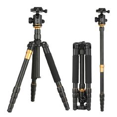 Find More Tripods Information about QZSD Q666  Tripod With Q 02 360 Degree Swivel Fluid Head For Canon For Pentax For Sony For Olympus DSLR Camera,High Quality tripod accessories,China tripod for digital camera Suppliers, Cheap tripod 2 from Guangzhou Etoplink Co., Ltd on Aliexpress.com