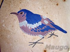 sparrow - decoration from plaster