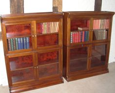 Pair of Early 20thc Glazed Bookcases