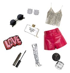 """""""It's disco time"""" by miloni-jhaveri on Polyvore featuring Georgine, Alice + Olivia, Moschino, Stoney Clover Lane, NYX and GlamGlow"""