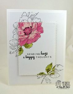 Cards-by-the-Sea: Happy Little Stampers Case The Designer April 2016...Sending Hugs and Happy Thoughts