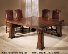 CBS 4019 Dining Table and 1137 Chairs - TJ Hooker Inc.