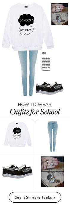 """I don't want to go to school 4"" by breemanor on Polyvore featuring 7 For All Mankind and DC Shoes"