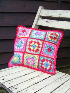Cath Kidston Crochet Cushion - Front