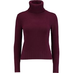 N.Peal Cashmere Cashmere turtleneck sweater ($260) ❤ liked on Polyvore featuring tops, sweaters, burgundy, turtle neck sweater, burgundy sweater, purple sweater, cashmere tops и purple turtleneck sweater