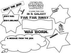 "Star Wars Theme. Student ""about me"" Star Wars theme poster.  Can be used for student of the week, student portfolios or a bulletin board."
