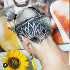 Undercut by Edu Barber Undercut Hairstyles Women, Undercut Women, Cool Hairstyles, Updo Hairstyle, Wedding Hairstyles, Pixie Cut With Undercut, Short Hair Undercut, Undercut Hair Designs, Undercut Styles