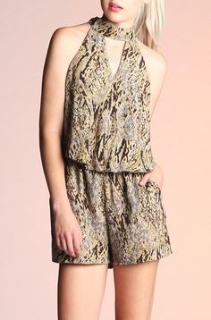 Can't get enough of this python print romper!  Shop www.yipsy.net