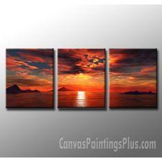 3 panel sunset