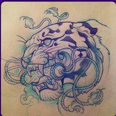 #drawing por @lolobanzai #tattooartist #tiger #sketch #design#illustration #spaintattoo