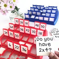 What a fun way to play and learn math facts! Use the game Guess Who? to teach addition, subtraction, multiplication and division! Easy to set up at home or in a math center. Homeschool Math, Homeschooling, Third Grade Math, Fourth Grade, Math Facts, Math For Kids, Elementary Math, Math Lessons, Math Skills