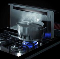 Raised range hood from Sirius for modular cooktops