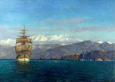 Image result for lebanon mediterranean painting